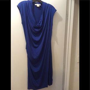 Cowl neck dress.